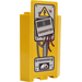 """LEGO Yellow Panel Wall 3 x 3 x 6 Corner with """"GENERATOR"""", """"DANGER"""" Sticker without Bottom Indentations"""
