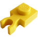LEGO Yellow Plate 1 x 1 with Vertical Clip (Thin 'U' Clip) (4085 / 60897)