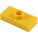 LEGO Yellow Plate 1 x 2 with 1 Stud (without Bottom Groove) (3794)