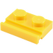 LEGO Yellow Plate 1 x 2 with Door Rail (32028)