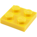 LEGO Yellow Plate 2 x 2 (3022 / 94148)