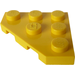 LEGO Yellow Plate 3 x 3 without Corner (2450)