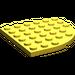 LEGO Jaune assiette 6 x 6 Rond Coin (6003)