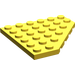 LEGO Yellow Plate 6 x 6 without Corner (6106)