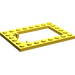 LEGO Yellow Plate 6 x 8 Trap Door Frame Recessed Pin Holders