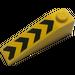 LEGO Yellow Slope 1 x 4 x 1 (18°) with Black Chevrons Sticker