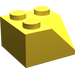 LEGO Yellow Slope 2 x 2 (45°) with Double Concave (Rough Surface) (3046)