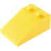 LEGO Yellow Slope 25° (33) 2 x 3 with Rough Surface (3298)