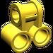 LEGO Yellow Technic Cross Block with Two Pinholes (32291)