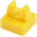LEGO Yellow Tile 1 x 1 with Clip (No Cut in Center) (2555 / 12825)