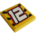 """LEGO Yellow Tile 2 x 2 with """"12"""" Sticker with Groove"""