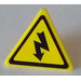 LEGO Yellow Triangular Sign with Clip with Sticker from Set 5887