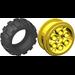 LEGO Yellow Wheel 20 x 30 Balloon Medium Assembly