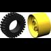 LEGO Yellow Wheel 24 x 43 Technic Assembly