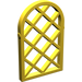 LEGO Yellow Window 1 x 2 x 2.667 Pane Lattice Diamond with Rounded Top