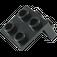 LEGO Black Bracket 1 x 2 - 2 x 2 (21712 / 44728 / 92411)