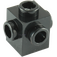 LEGO Black Brick 1 x 1 with Studs on Four Sides (4733)