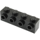 LEGO Black Brick 1 x 4 with 4 Studs on 1 Side (30414)