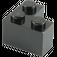 LEGO Black Brick 2 x 2 Corner (2357)