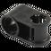 LEGO Black Cross Block 90° 1 x 2 (Axle/Pin) (6536 / 40146)