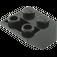 LEGO Black Slope 45° 2 x 2 Inverted (3660)