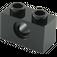 LEGO Black Technic Brick 1 x 2 with Hole (3700)