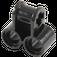 LEGO Black Technic Cross Block with Two Pinholes (32291 / 42163)
