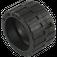 LEGO Black Tire 24 x 14 Shallow Tread (Tread Small Hub) with Band around Center of Tread (24341 / 89201)