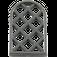 LEGO Black Window 1 x 2 x 2.667 Pane Lattice Diamond with Rounded Top (29170 / 30046)