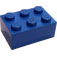 LEGO Blue Brick 2 x 3 without Internal Supports