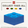 LEGO Blue Collect Them All Promotional Sticker