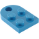 LEGO Blue Plate 3 x 2 with Hole (3176)