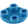 LEGO Blue Round Plate 2 x 2 with Rounded Bottom (2654)