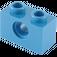 LEGO Blue Technic Brick 1 x 2 with Hole (3700)