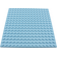 LEGO Bright Light Blue Plate 16 x 16 with Underside Ribs (91405)