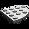 LEGO Dark Gray Plate 4 x 4 Corner Round