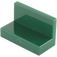 LEGO Dark Green Panel 1 x 2 x 1 without Rounded Corners (4865)
