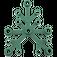 LEGO Dark Green Plant Leaves 6 x 5 (2417)