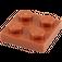 LEGO Dark Orange Plate 2 x 2 (3022)