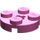 LEGO Dark Pink Round Plate 2 x 2 with Axle Hole (with '+' Axle Hole)