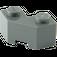LEGO Dark Stone Gray Brick 2 x 2 Facet (87620)