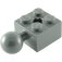 LEGO Dark Stone Gray Brick 2 x 2 with Ball Joint and Axlehole without Holes in Ball (57909)