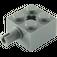 LEGO Dark Stone Gray Brick 2 x 2 with Pin and Axlehole (6232 / 76382)
