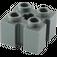 LEGO Dark Stone Gray Brick 2 x 2 with Slots and Axlehole (39683 / 90258)