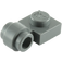 LEGO Dark Stone Gray Plate 1 x 1 with Clip (Thick Ring) (4081 / 41632)