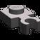 LEGO Dark Stone Gray Plate 1 x 1 with Vertical Clip (Thin Open 'O' Clip) (4085)