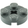 LEGO Dark Stone Gray Round Plate 2 x 2 with Axle Hole (with '+' Axle Hole) (4032)