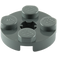 LEGO Dark Stone Gray Round Plate 2 x 2 with Axle Hole (with 'X' Axle Hole) (4032)