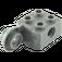 LEGO Dark Stone Gray Technic Brick 2 x 2 with Hole, Half Rotation Joint Ball Vert (48171)