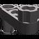 LEGO Dark Stone Gray Technic Half Beam 3 with Knob and Pin